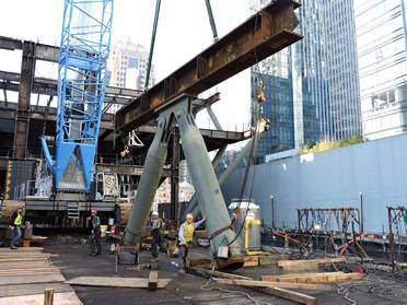 Transit Center Construction Crane