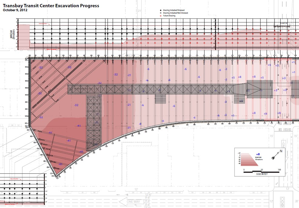 Excavation Progress Diagram 20121009